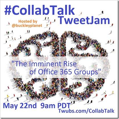 CollabTalk TweetJam May 22nd, 2015