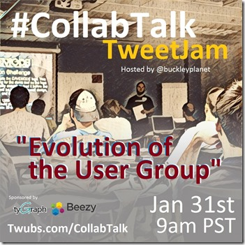 CollabTalk tweetjam Jan 2017