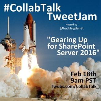 CollabTalk TweetJam Feb 18th, 2015